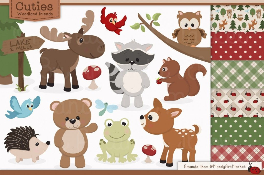 Free Woodland Clipart ….