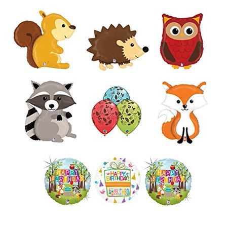 Woodland Creatures Birthday Party Supplies Baby Shower Balloon Bouquet  Decorations.