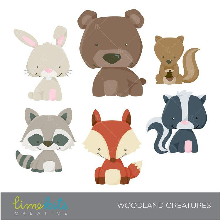 Woodland Little Animals Clipart.