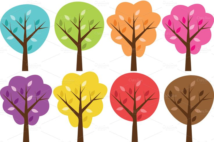 Woodland Trees Clipart.