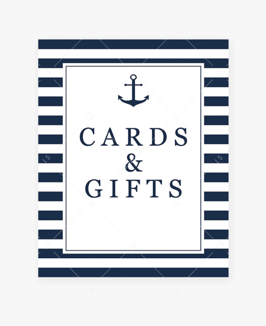 Nautical Gifts Sign Printable Navy And White Stripes.