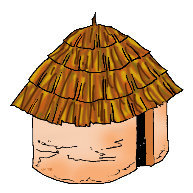 Woodland Native American Clipart.