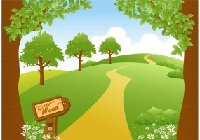 Woodland path landscape free vector graphic art free download.