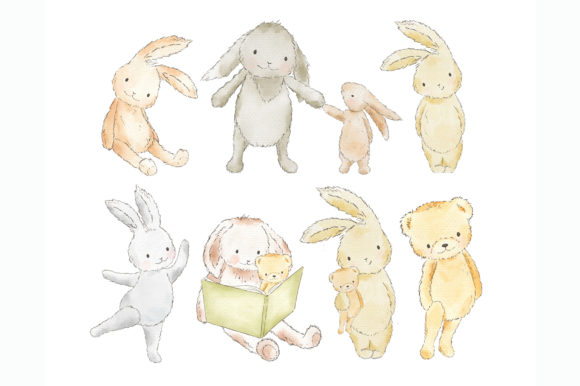 Forest Woodland Animals Clipart Graphic.
