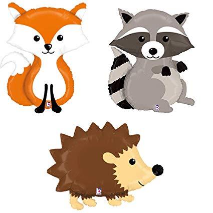 Buy TCS Party Bundles Woodland Raccoon Fox Hedgehog Mylar.