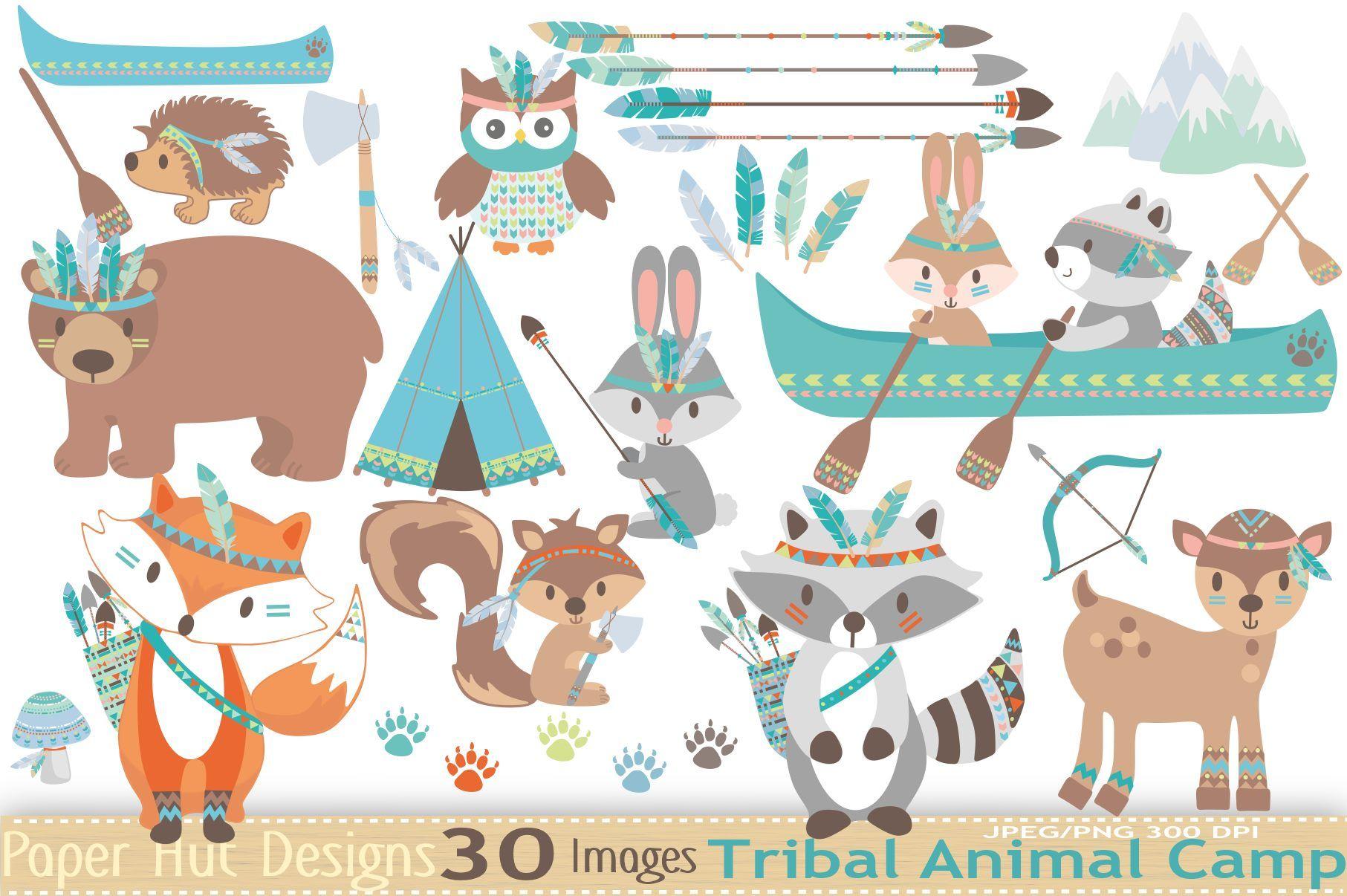 Tribal Animals Clipart.