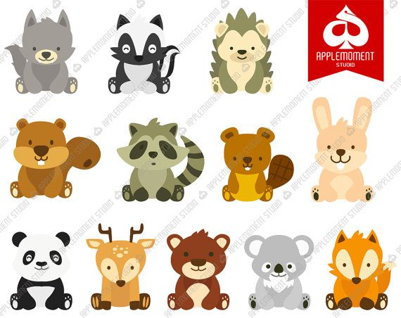Woodlands Animal Digital Clipart for Personal and by.