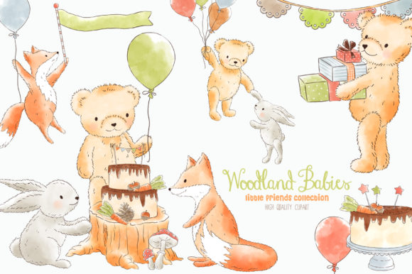 Forest Woodland Animals Clipart.