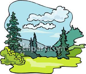 Above A Woodland Landscape.