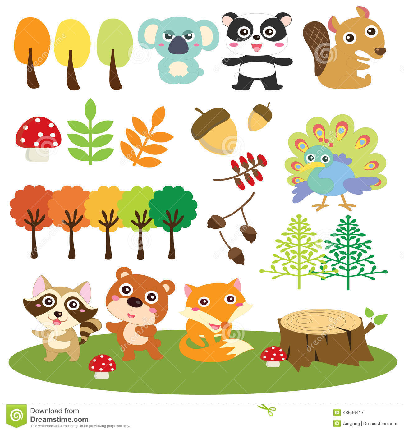 Woodlands clipart.