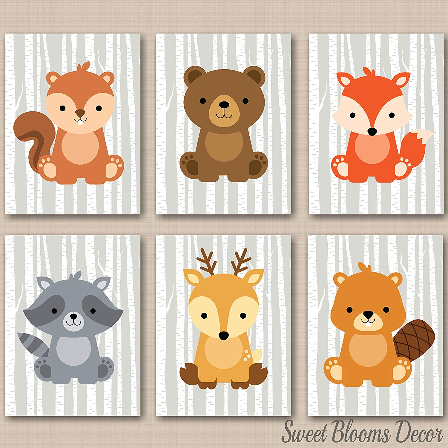 Amazon.com: Woodland Nursery Decor,Woodland Nursery Wall Art.