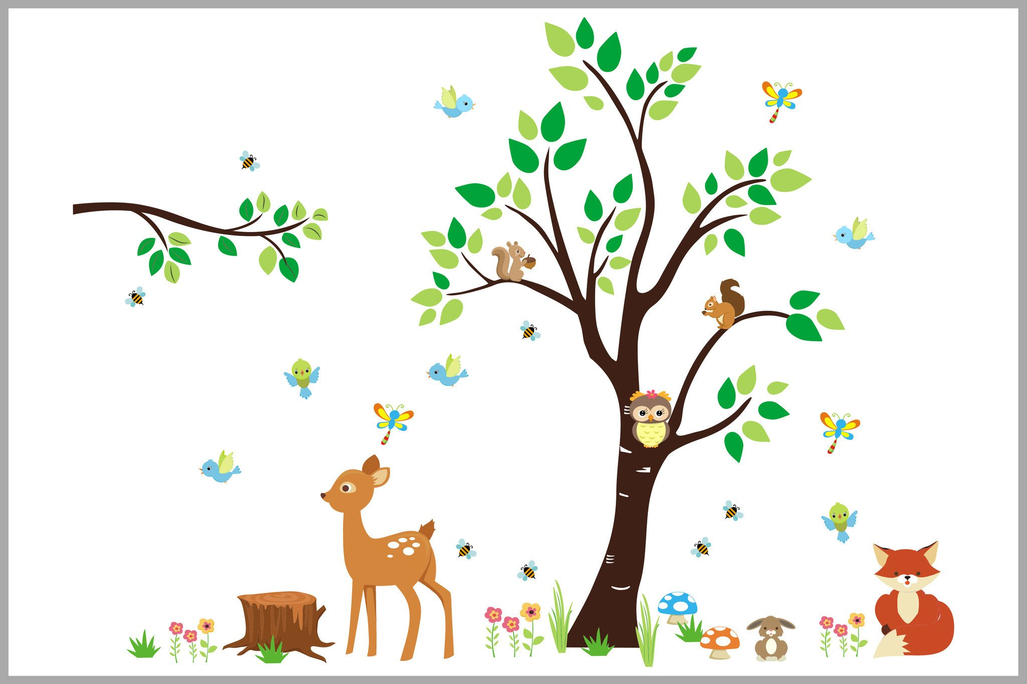 Forest and Woodland Nursery Decor.