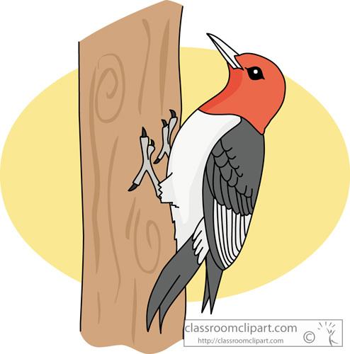 Woodcutter bird clipart.