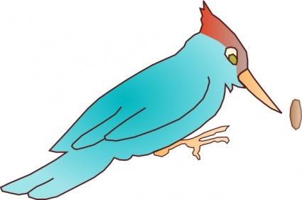 Woodpecker clip art Free Vector.