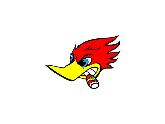 Woody Woodpecker Vector Logo.
