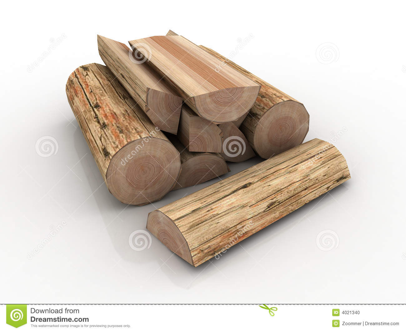 Logs, Fire Wood Pile Stock Photo.