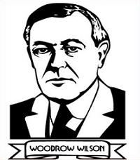 Clipart of President Woodrow Wilson.