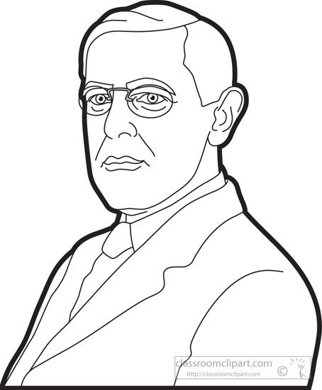 President Wilson Clipart.