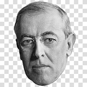 Grayscale of man, Woodrow Wilson transparent background PNG.