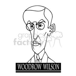 woodrow wilson black white clipart. Royalty.