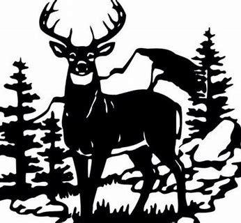 Image result for Deer Scene Silhouette Clip Art.