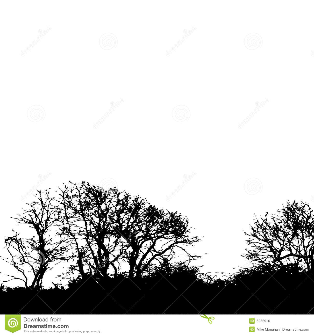 Tree Silhouette Background.