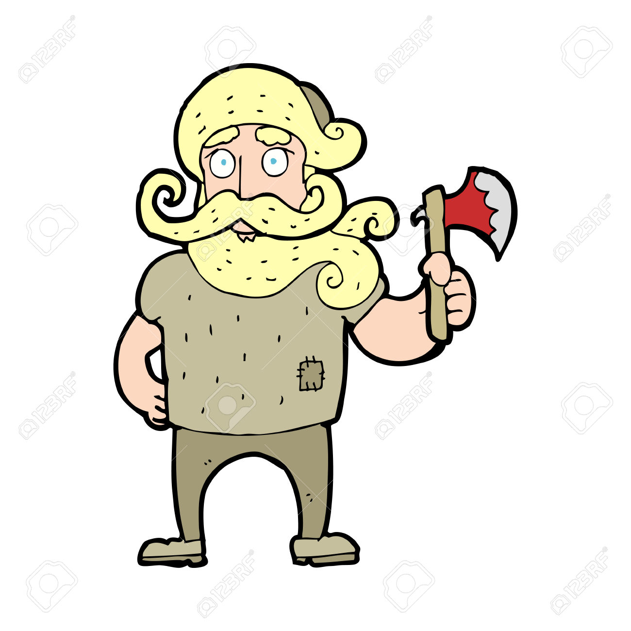 Cartoon Lumberjack With Axe Royalty Free Cliparts, Vectors, And.