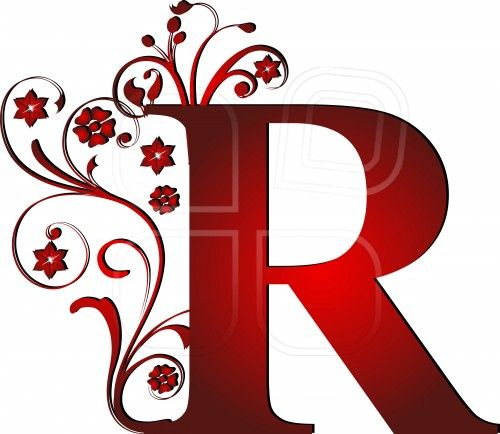 capital letter R red.