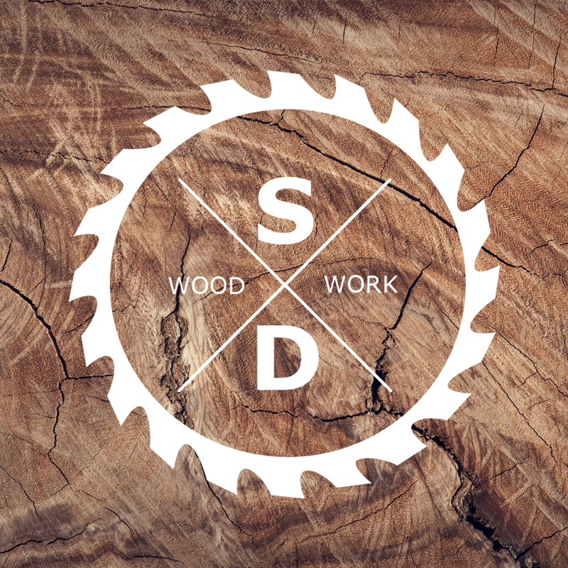 Logo design. Woodworking logo..