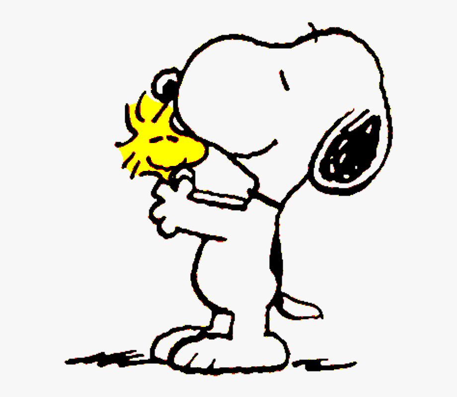 Snoopy Kisses Woodstock By.