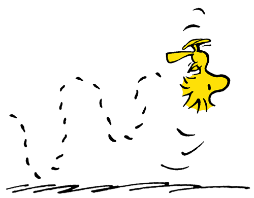 Woodstock Practicing Inverted Flight.