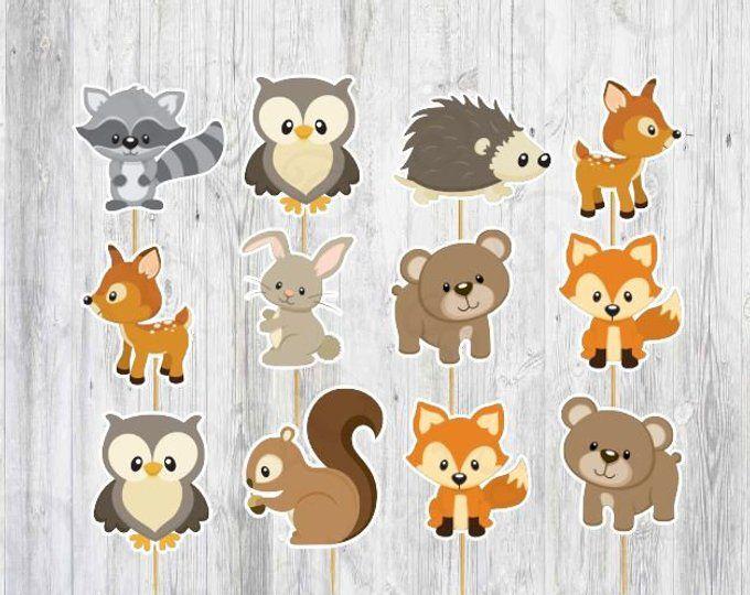 Pin on Animal Cookies Woodland.