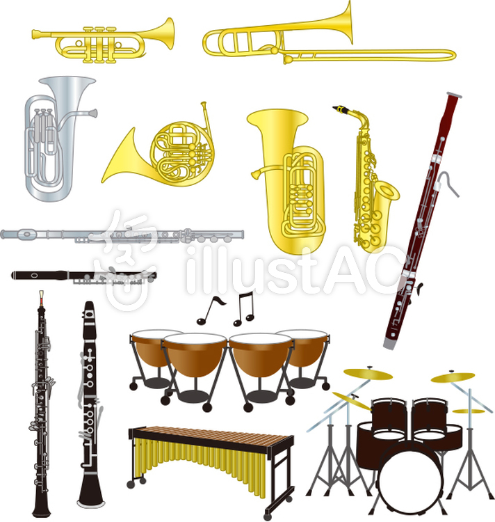 All kinds of instruments Wind instrument.