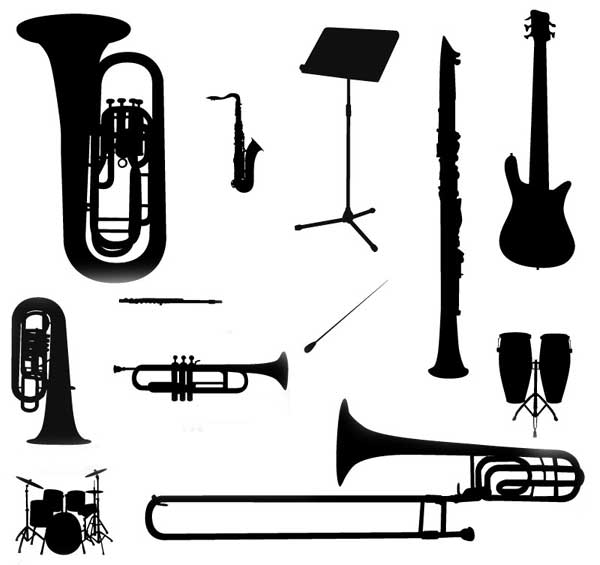 Free Musical Instruments Silhouette, Download Free Clip Art.