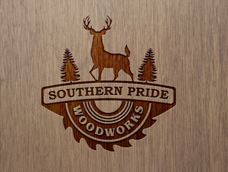 Joinery and woodwork logos with solid design features.