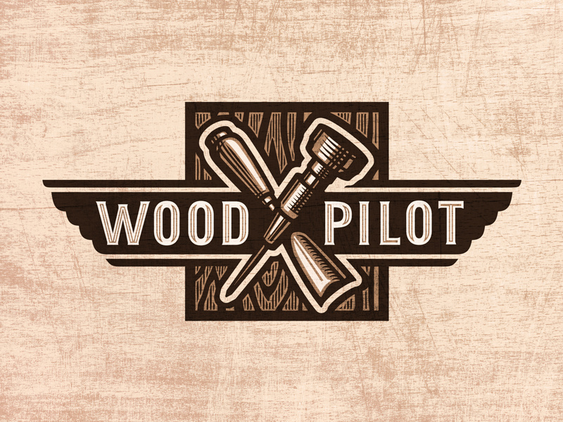 Wood Pilot Logo by Paragon Design House on Dribbble.