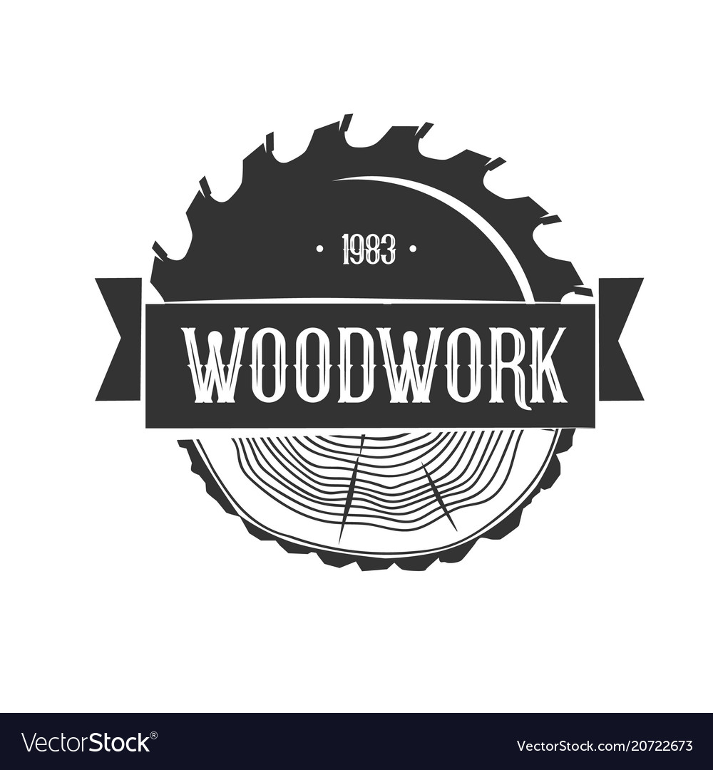 Woodworking logo template.