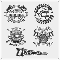 Woodworker Logo photos, royalty.