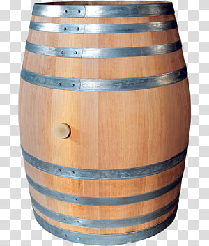 Barrel Wood Crate Drum Beer, wood transparent background PNG.