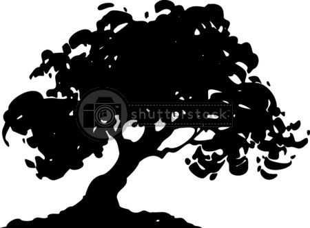 oak tree logo design.