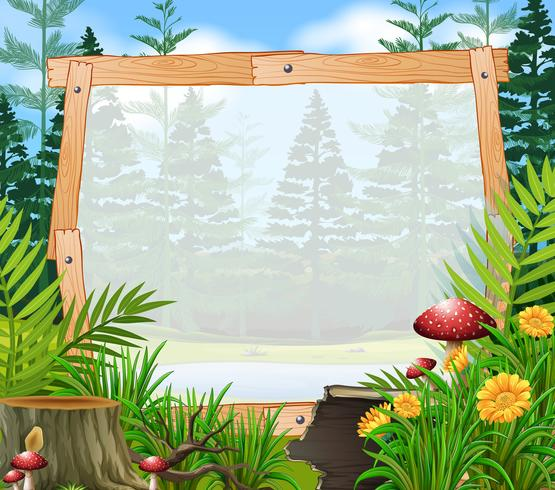 Border template with forest in background.