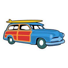 Woody Car SVG Cuttable Design Cut File. Vector, Clipart, Digital.