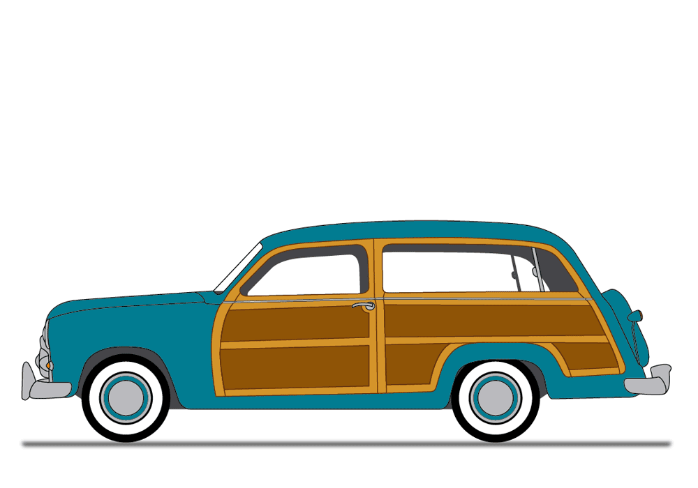 Woody Car Clipart Image.