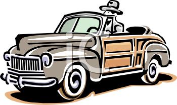 Woody Convertible Car Clip Art.