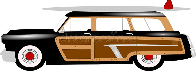 Woody Station Wagon Stock Illustrations.