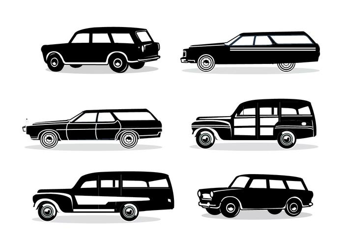 Station Wagon Silhouette.