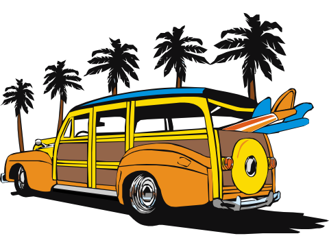 Woody Surf Van.