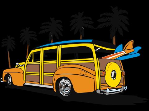Woody Surf Van.