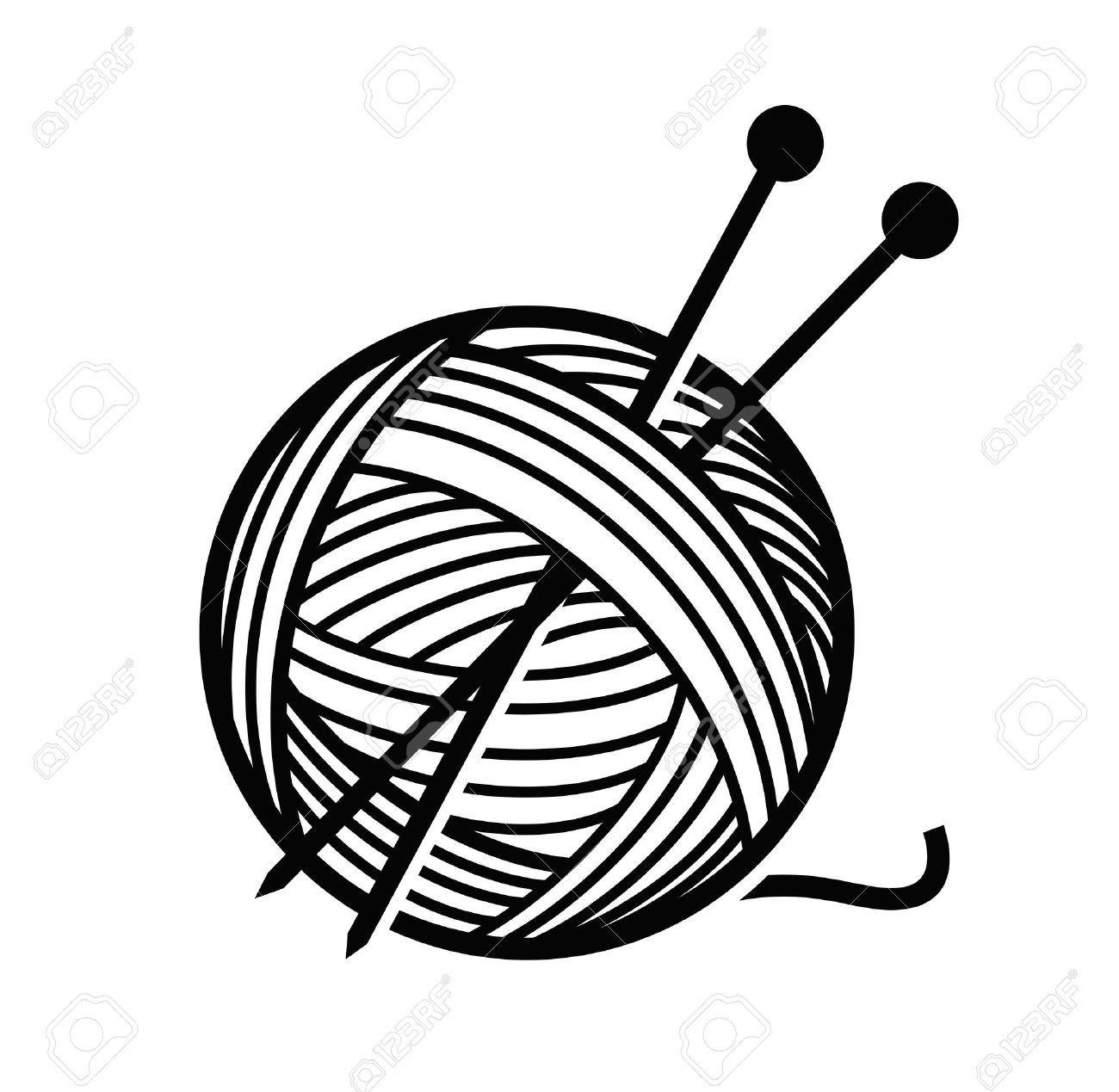 Wool clipart black and white 4 » Clipart Station.