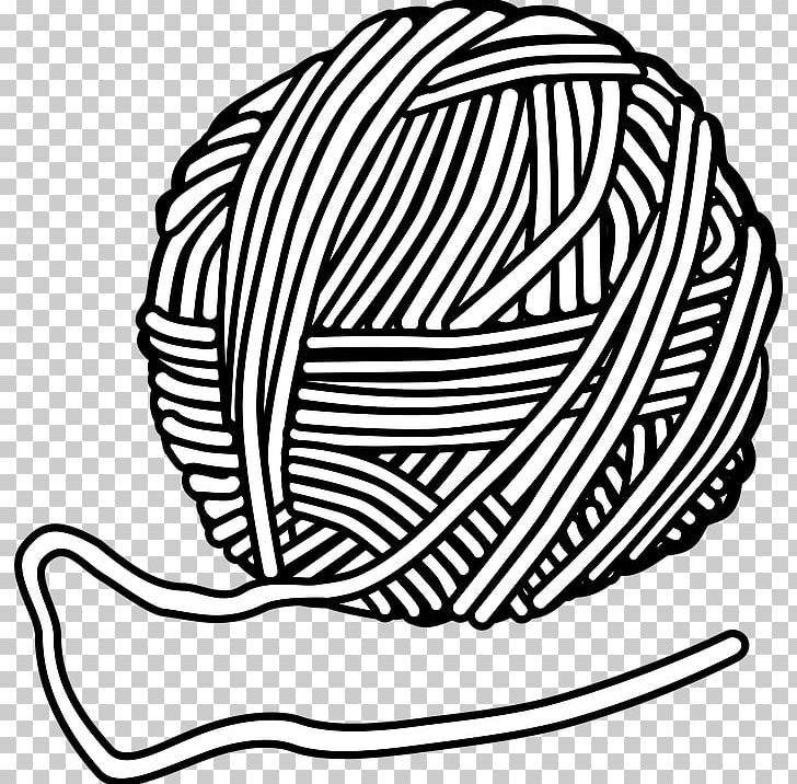 Yarn Wool Knitting PNG, Clipart, Black And White, Copyright.